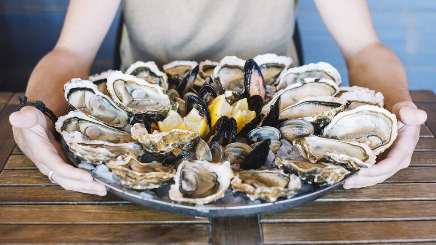 mussels oysters